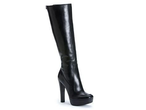 Calvin Klein Britton High Heel Platform Boots In Black