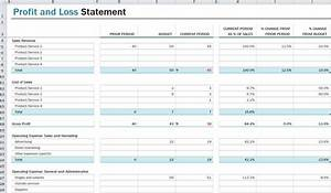 profit and loss statement template profit and loss With profit and losses template