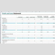 Profit And Loss Statement Template  Profit And Loss Statement Excel