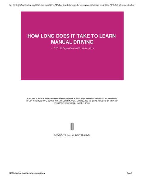 long     learn manual driving