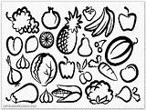 Salad Fruit Coloring Pages Drawing Printable Getdrawings Device Computer sketch template