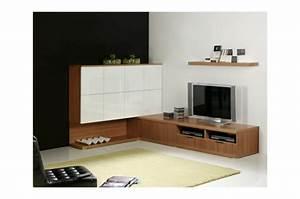Meuble Tv D Angle Blanc : mod les de meuble tv en bois ~ Teatrodelosmanantiales.com Idées de Décoration