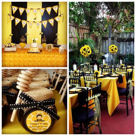 baby shower bee theme bee themed baby shower with so many adorable ideas via