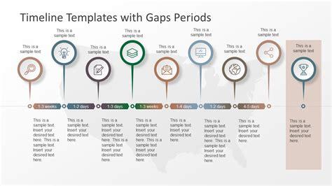 timeline templates  gaps periods slidemodel