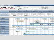 Interactive graphical production planning using Gantt