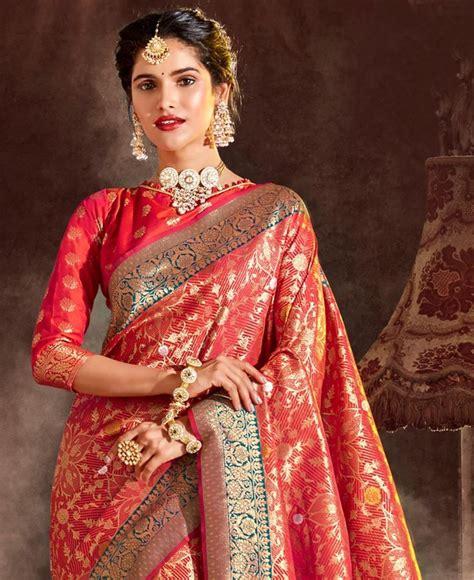 Buy Splendid Red Silk Saree [207321] at $108.73