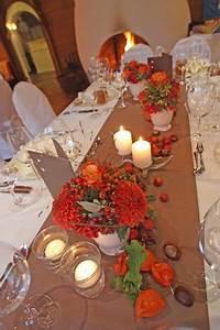 Herbst Dekoration Tisch : herbst hochzeit tischdekoration in braun und orange mit herbstlichen accessoires hochzeiten ~ Frokenaadalensverden.com Haus und Dekorationen