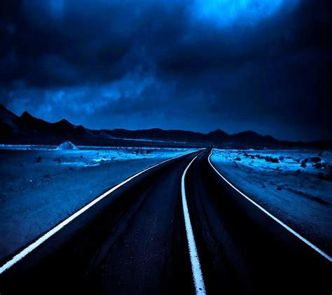 dark highway hd wallpaper background images