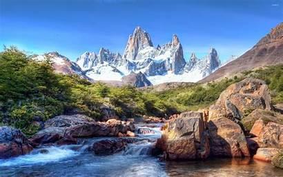 Waterfall Amazing Mountains Rocky Nature Mountain