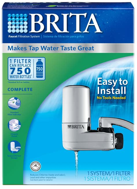 Brita Faucet Mounted Water Filters by Brita Chrome Faucet Mount Filtration System Appliances