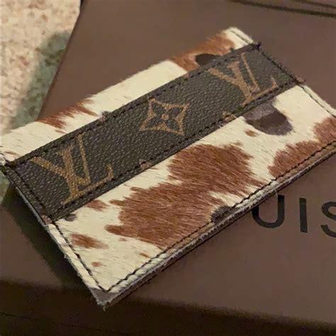louis vuitton bags authentic repurposed louis vuitton cowhide wallet poshmark