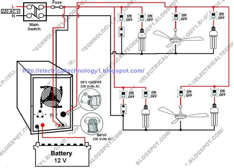 automatic ups system wiring diagram in of some items depends on ups and rest depends on