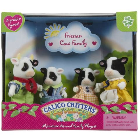 backyard playset friesian cow family calico critters educational toys