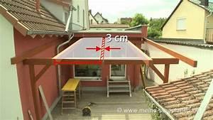So entsteht eine terrassen berdachung mit stegplatten for Terrassenüberdachung mit stegplatten