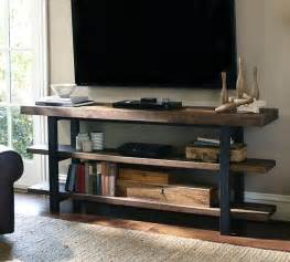 Pottery Barn Tv Wall Cabinet pottery barn griffin reclaimed wood media console decor