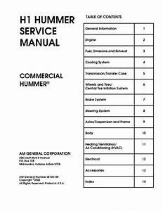 Hummer H1 1997 Service Repair Manual
