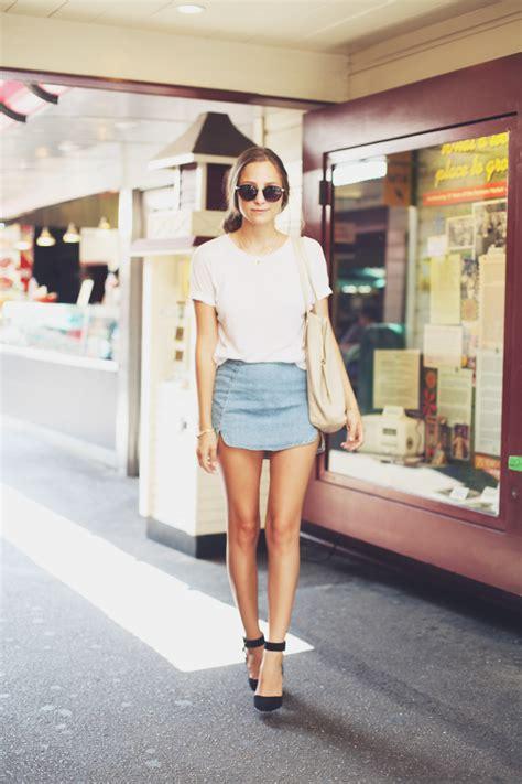 Denim Skirts Trend 2018 | FashionGum.com