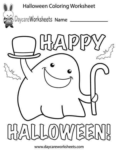 free preschool coloring worksheet 190 | halloween coloring worksheet printable