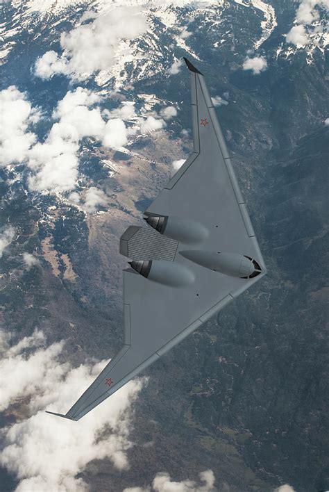 Russian Stealth Bomber Digital Art by Erik Simonsen