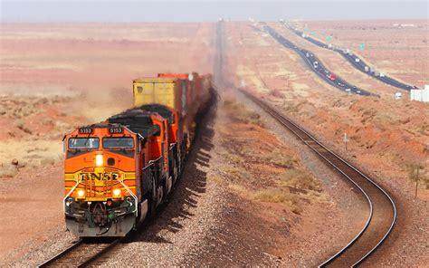 Train Railroad Desert Wallpaper