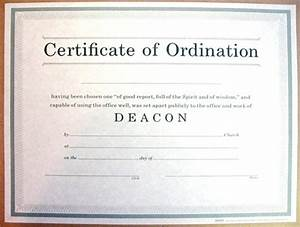 certificate of ordination for deacon With deacon ordination certificate template