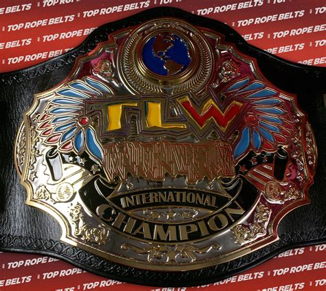 total lethal wrestling womens title top rope belts