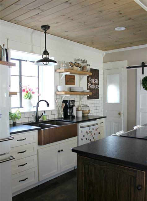 diy wood planked ceiling kitchen design kitchen remodel