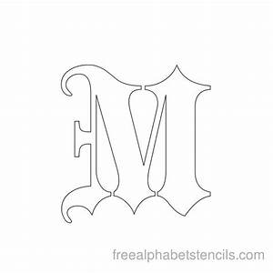 black letter gothic alphabet m autumn ray pinterest With black letter stencils