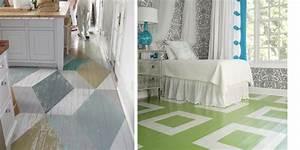 Parquet peint avec formes geometriques for Parquet peint