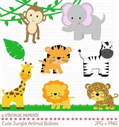 Clipart Jungle Zoo Animal Theme Safari Welcome