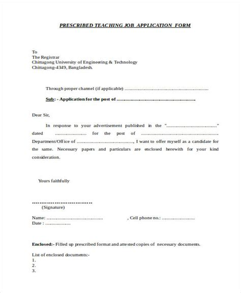 46 application letter exles sles pdf doc