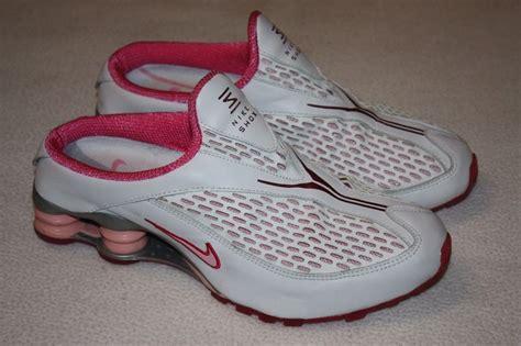 nike slipon pink nike shox nz mule 310367 162 white pink slip on shoes