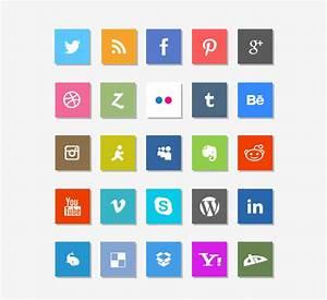 Social Media Icons, Vectors - 365PSD.com