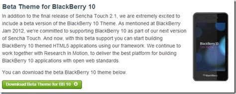 sencha touch 2 1 brings beta support for blackberry 10 berryreview