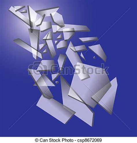 vecteurs eps de tomber morceaux casse verre bleu fond