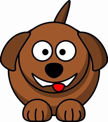 Dog Cartoon Smiling Laughing Publicdomainfiles Clip Domain