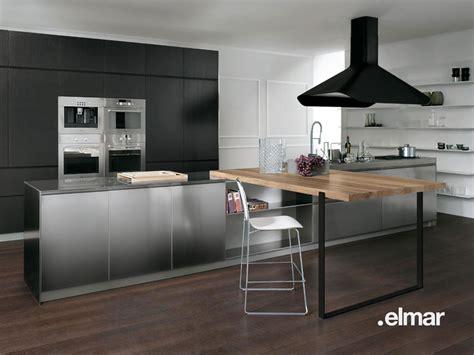 hotte de cuisine roblin la cuisine bois et inox d 39 elmar inspiration cuisine