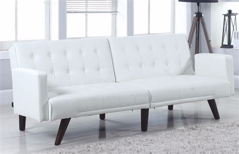 White Leather Sleeper Sofa by Modern White Leather Sleeper Sofa Small Modern White