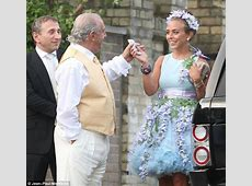 Chloe Green steps out in bizarre floral dress and matching