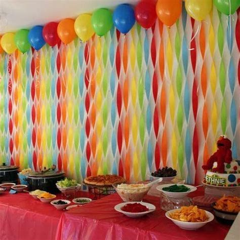 Decorating Ideas With Streamers by Pin By Someone On Birthday Birthday Streamers Sesame
