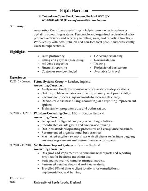 Management Consultant Resume by Best Consultant Resume Exle Livecareer