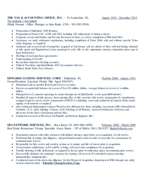 Tax Assistant Resume by Accounting Resume Matthew Edwards 6 29 14