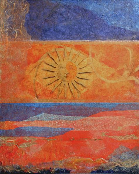 Celestial Sun Painting by Catherine Sprague