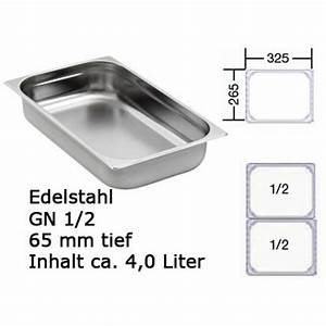 Gn Behälter 1 2 : gn 1 2 beh lter 65mm 4l gastronormbeh lter chafing dish konsi ~ Orissabook.com Haus und Dekorationen