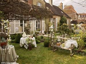 decoration jardin style campagne With idee pour jardin exterieur 10 deco rideau style campagne