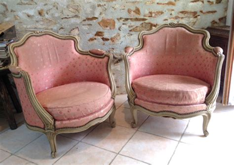 vintage tub chairs a4057 pair of lxv style vintage tub chairs 3262