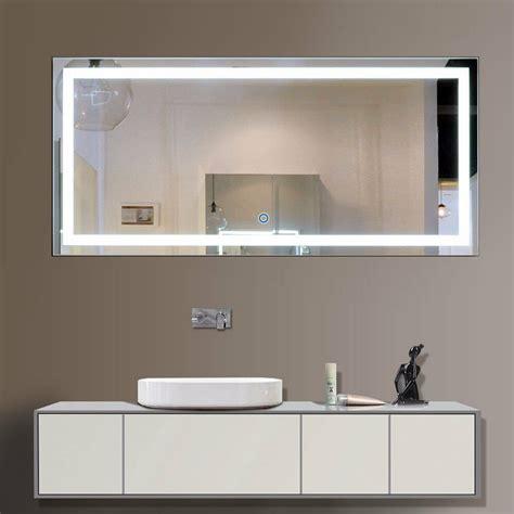 Led Illuminated Bathroom Mirror by Led Bathroom Wall Mirror Illuminated Lighted Vanity Mirror
