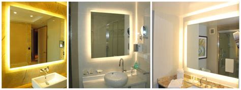 luxury hotel furniture bathroom led lighted mirrorsvanity