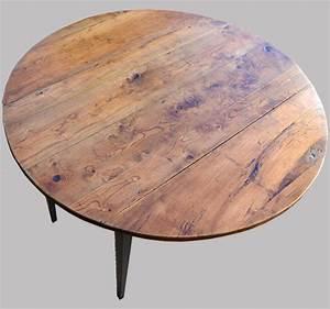 Table Plateau Bois : table ronde pour cuisine plateau en bois naturel ~ Teatrodelosmanantiales.com Idées de Décoration