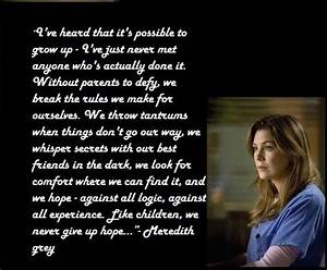 Meredith Grey Greys Anatomy Quotes. QuotesGram